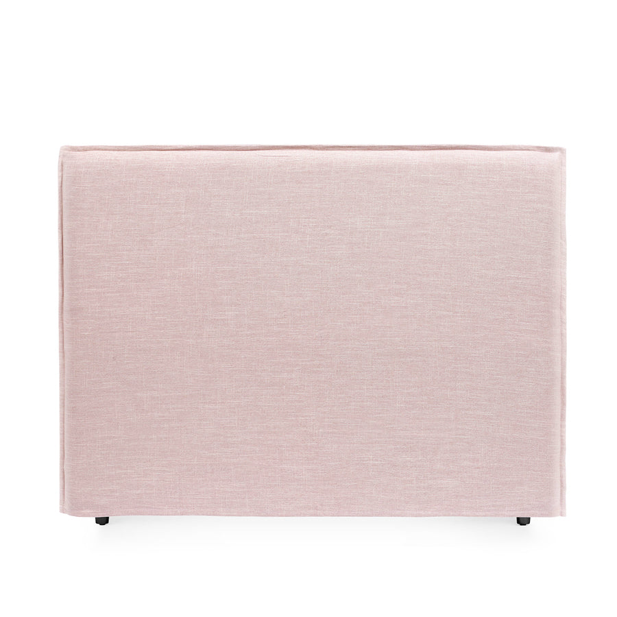 Juno Bedhead with Slipcover Queen Size Dusty Pink - Black Mango