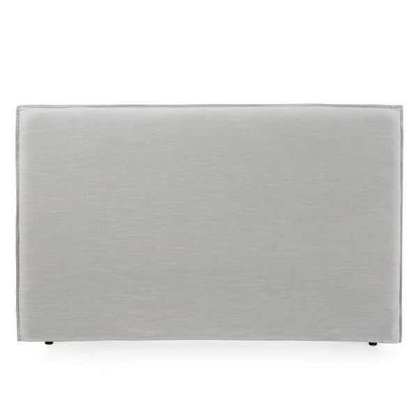 Juno Bedhead with Slipcover King Size Taupe - Black Mango