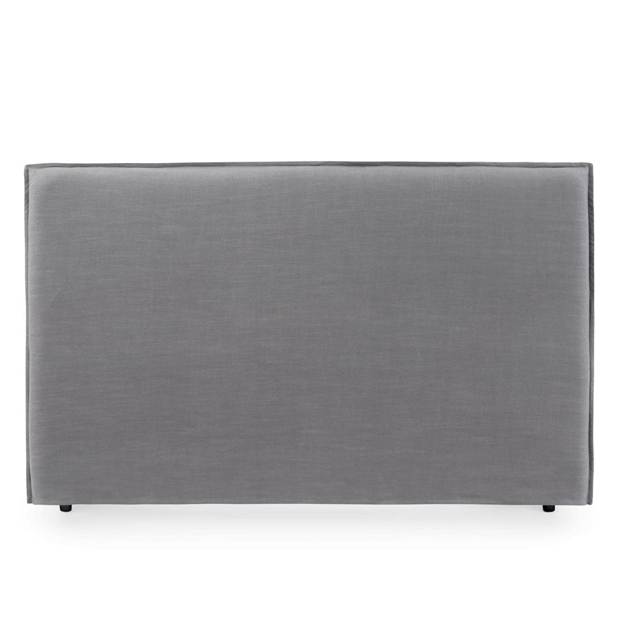 Juno Bedhead with Slipcover King Size Wolf Grey - Black Mango