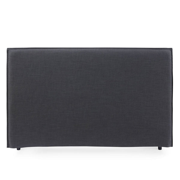 Juno Bedhead with Slipcover King Size Charcoal - Black Mango
