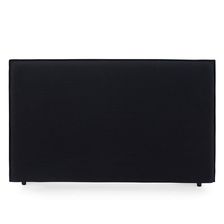 Juno Bedhead with Slipcover King Size Black - Black Mango