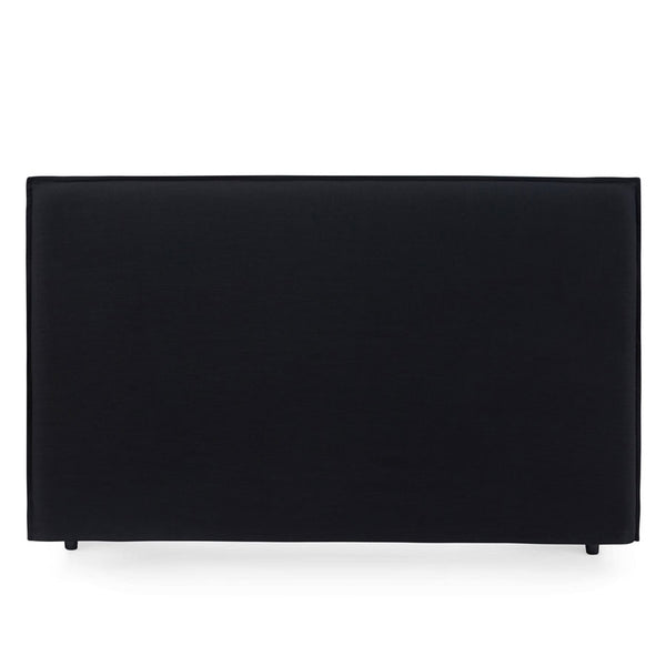 Juno Bedhead with Slipcover King Size Black