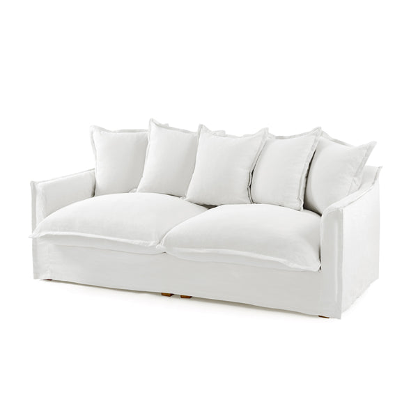 The Cloud 3 Seater Sofa with White Slipcover