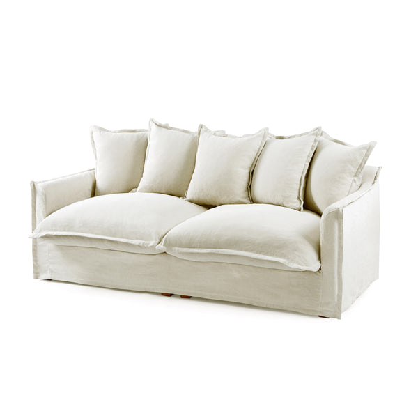 The Cloud 3 Seater Sofa with Stone Slipcover