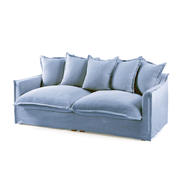 The Cloud 3 Seater Sofa with Denim Blue Slipcover