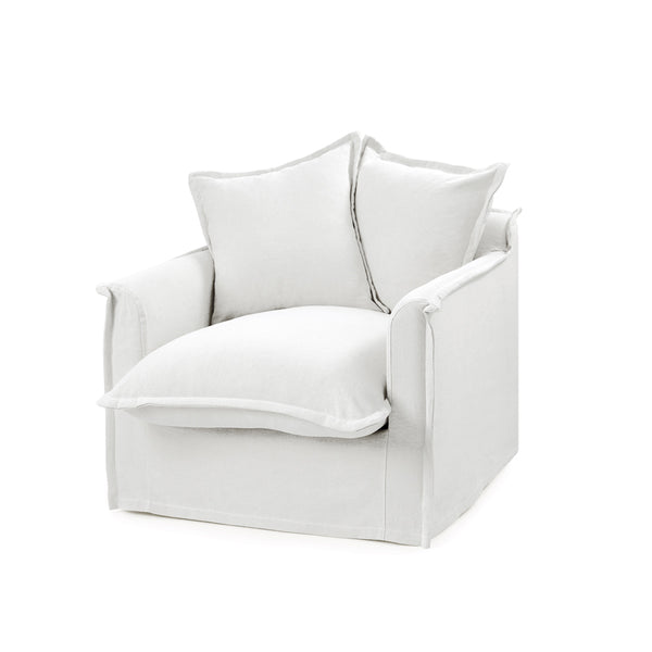 The Cloud Single Seater with White Slipcover