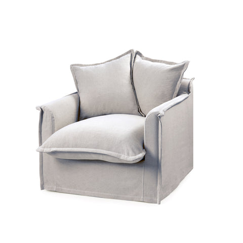 The Cloud Single Seater with Cloudy Grey Slipcover