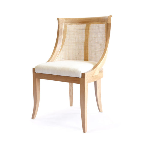 Madrid Side Chair Natural - Black Mango