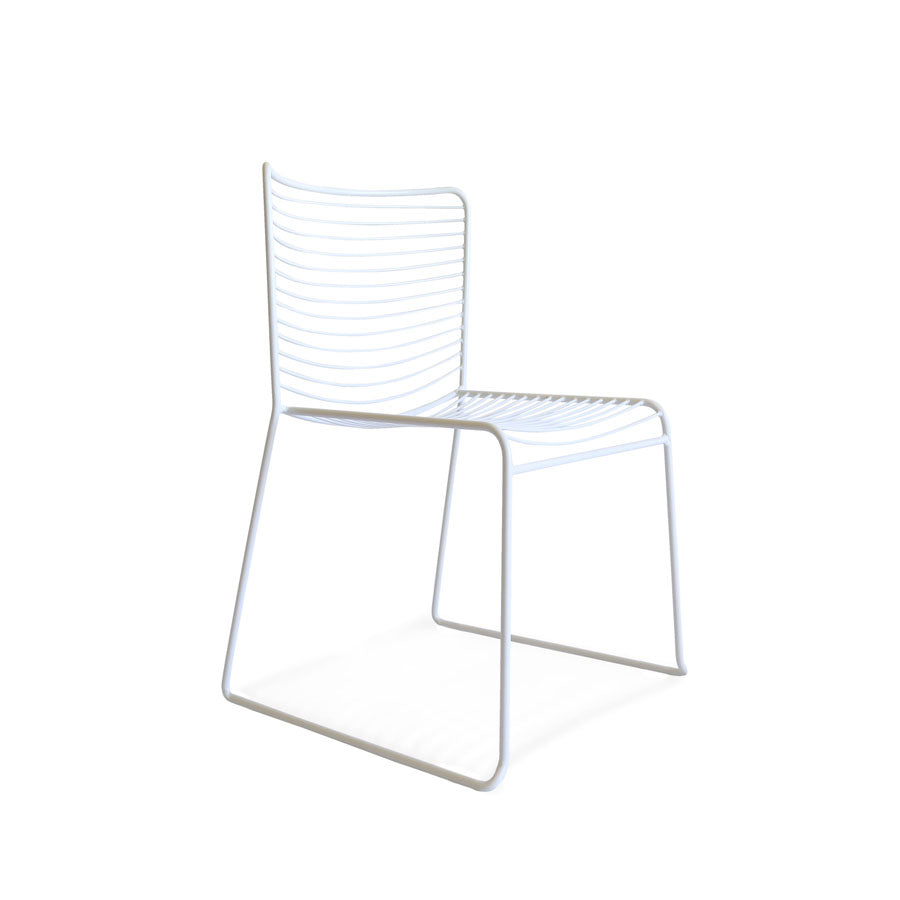 Gallery Wire Stackable Dining Chair White | Set of 2 - Black Mango