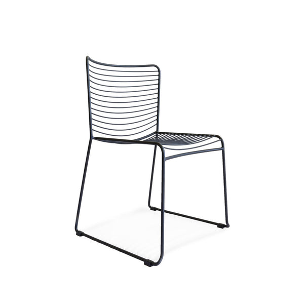 Gallery Wire Stackable Dining Chair Black | Set of 2 - Black Mango
