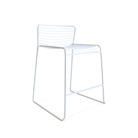 Gallery Wire Stackable Counter Stool White | Set of 2 - Black Mango