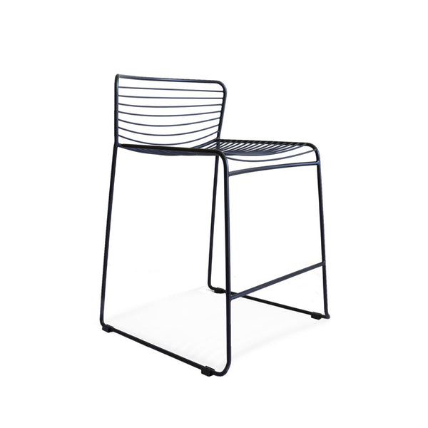 Gallery Wire Stackable Counter Stool Black | Set of 2 - Black Mango