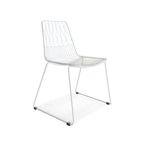 Aztec Wire Stackable Dining Chair White | Set of 4 - Black Mango