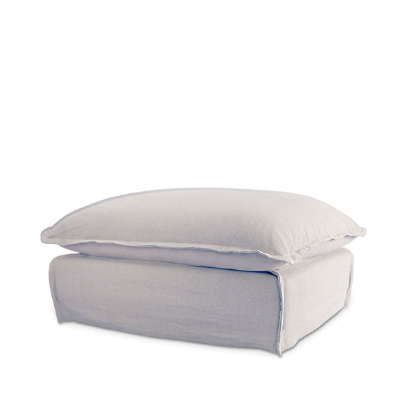The Cloud Ottoman with Cloudy Grey Slipcover