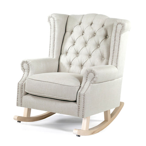 Royale Wingback Rocking Chair Taupe