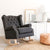 Royale Wingback Rocking Chair Wolf Grey