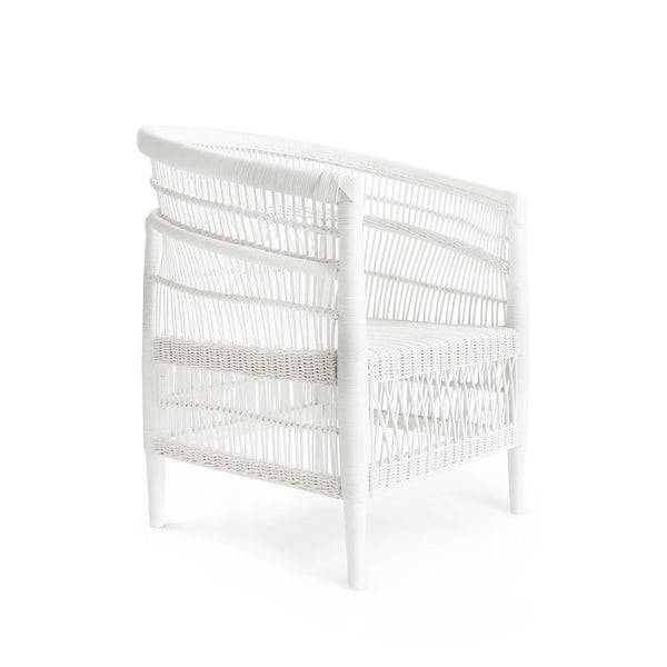 PRE-SALE - Malawi Style Club Chair White - Black Mango