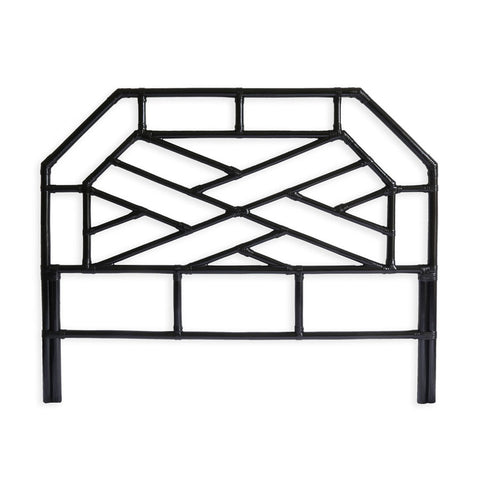 Chippendale Bedhead Queen Size Black