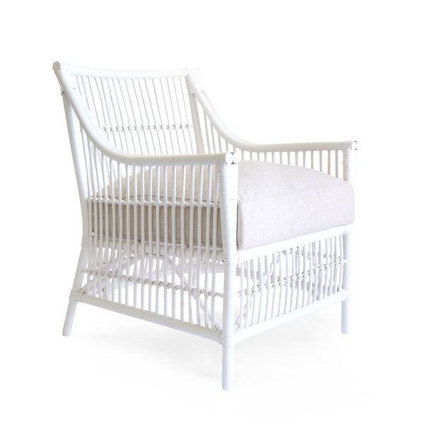 Sorrento Rattan Lounge Chair White