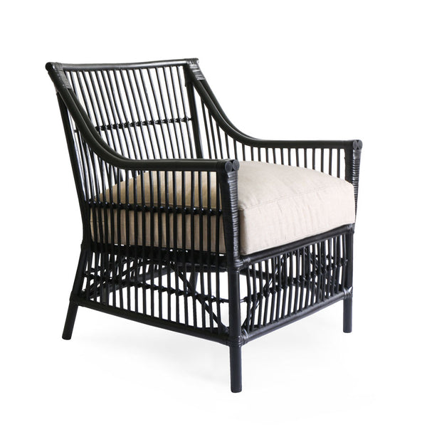 Sorrento Rattan Lounge Chair Black