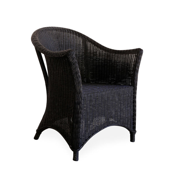 Madison Rattan Arm Chair Black
