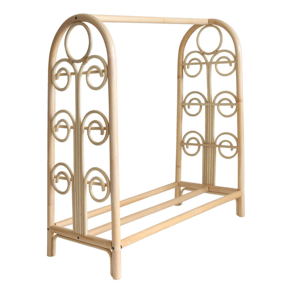 Swirl Rattan Childrens Clothes Rack