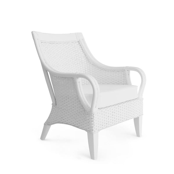 Tamia Rattan Lounge Chair White