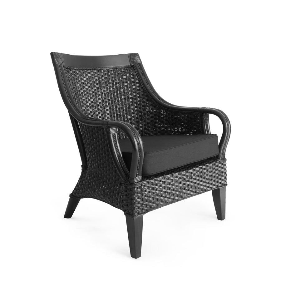 Tamia Rattan Lounge Chair Black