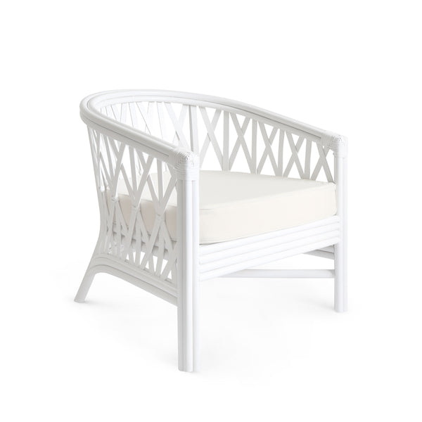 Havana Rattan Tub Chair White