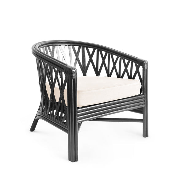 Havana Rattan Tub Chair Black