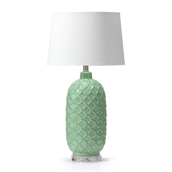 Morocco Ceramic Table Lamp Mint - Black Mango