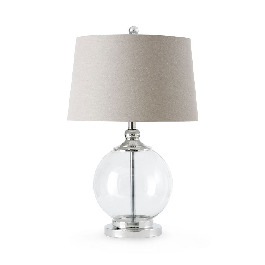 Hilton Glass Table Lamp Clear - Black Mango