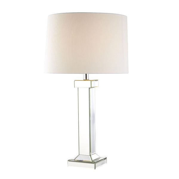 Lydia Mirror Pillar Table Lamp - Black Mango