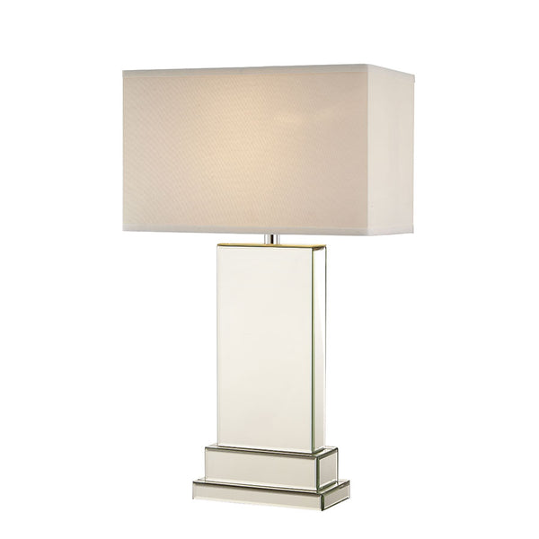 Lydia Mirror Tower Table Lamp - Black Mango