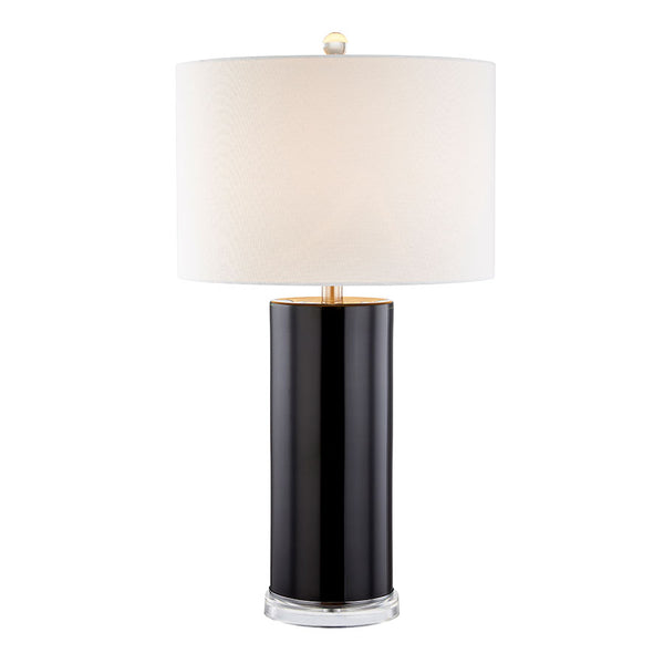 Dean Black Glass Table Lamp - Black Mango
