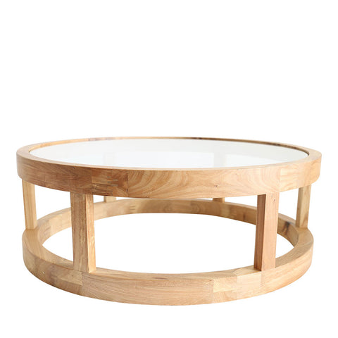 Arlo Coffee Table Elm Wood - Black Mango
