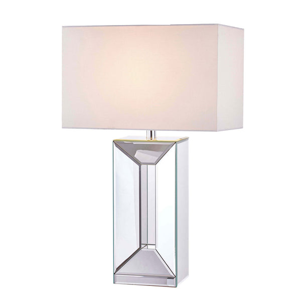 Lydia Mirror Block Table Lamp