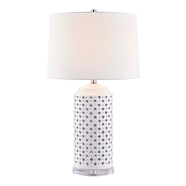 Jasmine White Lattice Table Lamp