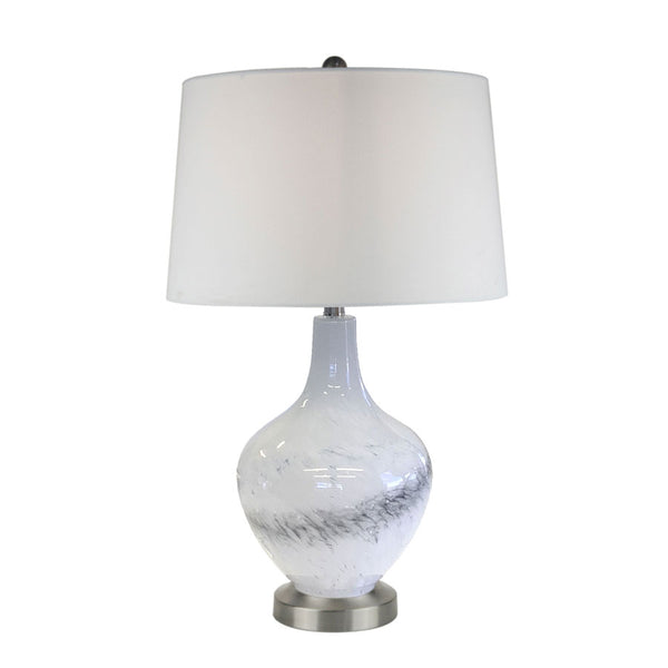 Arctic Frost Glass Table Lamp