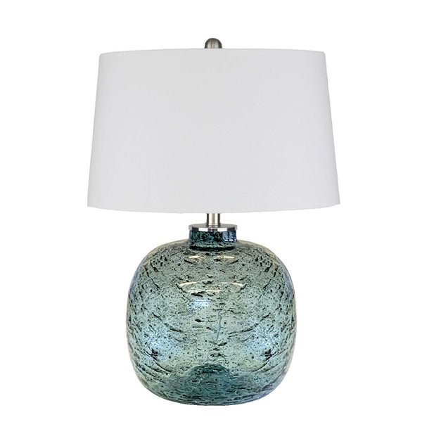 Molten Blue Glass Table Lamp