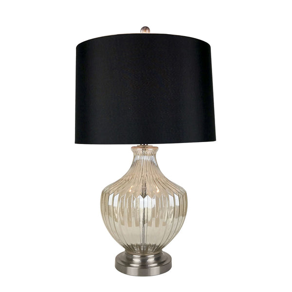 Molly Black and Gold Glass Vase Table Lamp