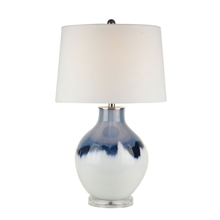 Macie Navy and White Table Lamp