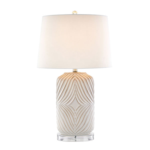 Mica Etched Ceramic Table Lamp