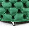 Emma Storage Ottoman Large 75cm Emerald - Black Mango