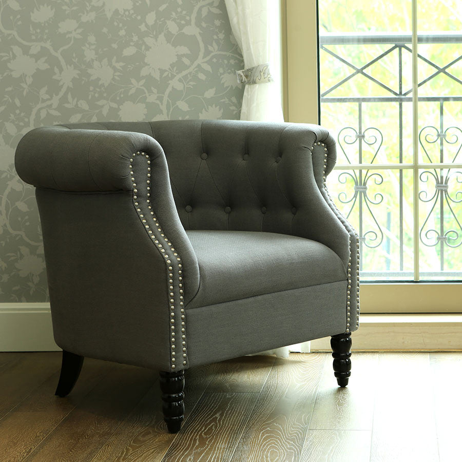 esther tub chair wolf grey