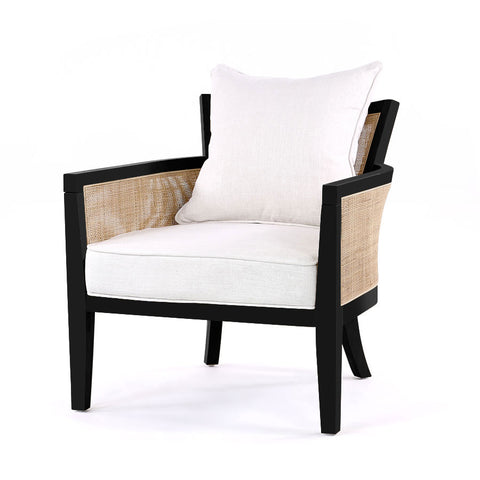 Hampton Club Chair Black - Black Mango