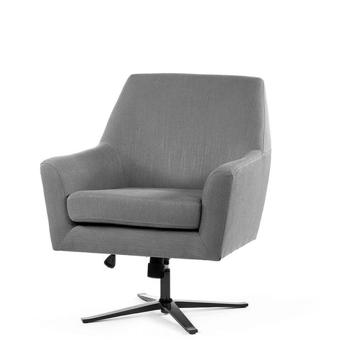 Ava Swivel Chair Wolf Grey - Black Mango