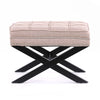 Brooke Ottoman Foot Stool Dusty Pink - Black Mango