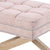 Brooke Ottoman Foot Stool Oak Legs Dusty Pink - Black Mango
