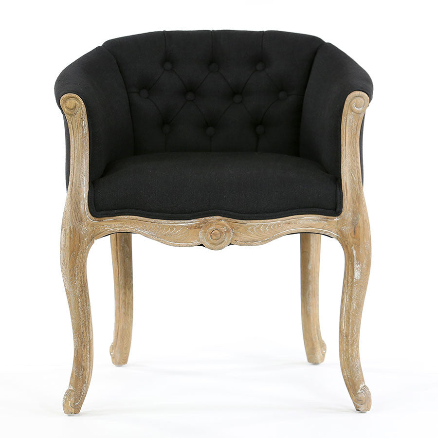 Cabriole Elizabeth Chair In Black Black Mango